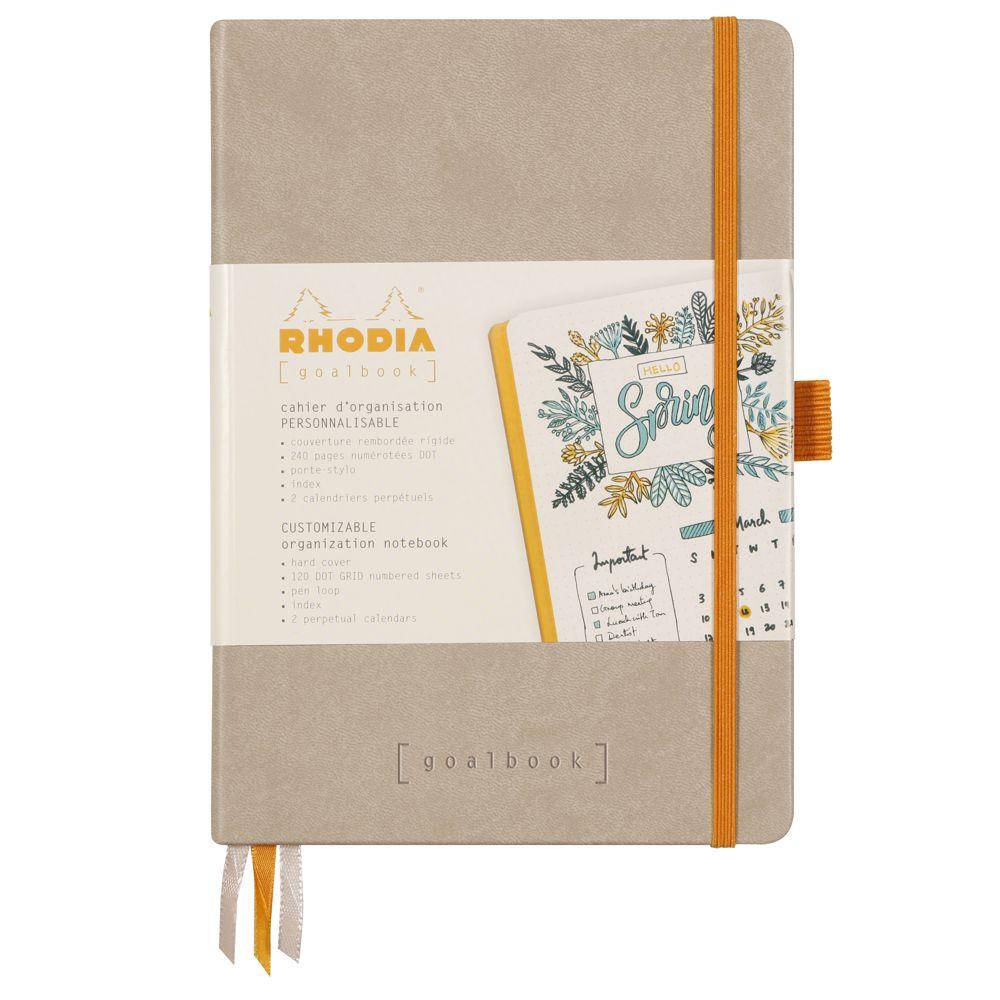 Goalbook Rhodia A5 Capa Dura Beige