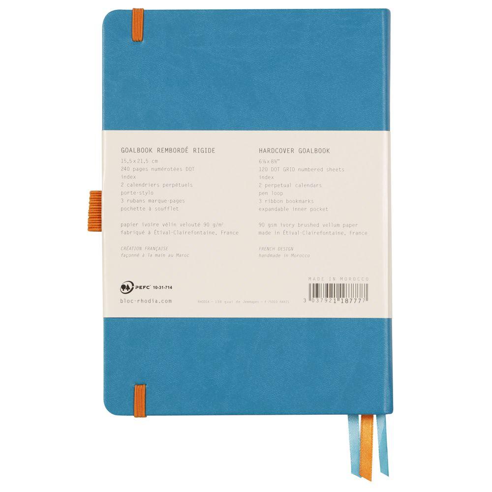 Goalbook Rhodia A5 Capa Dura Turquoise