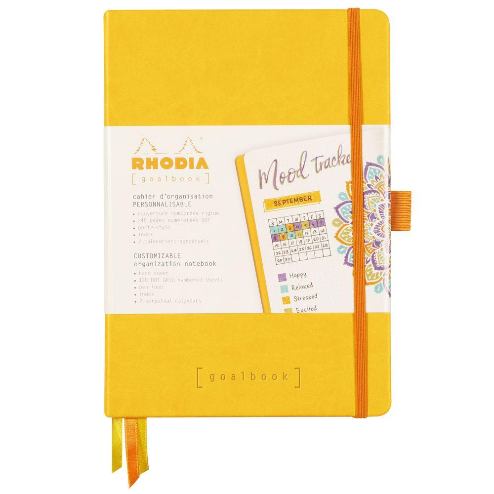 Goalbook Rhodia A5 Capa Dura Yellow