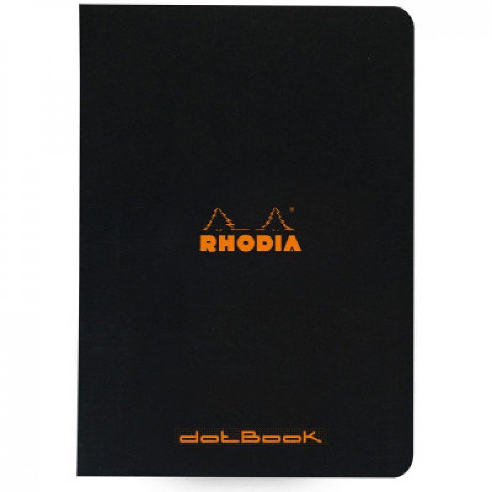 Caderno Rhodia Dot Book Pontilhado Capa Preta A5