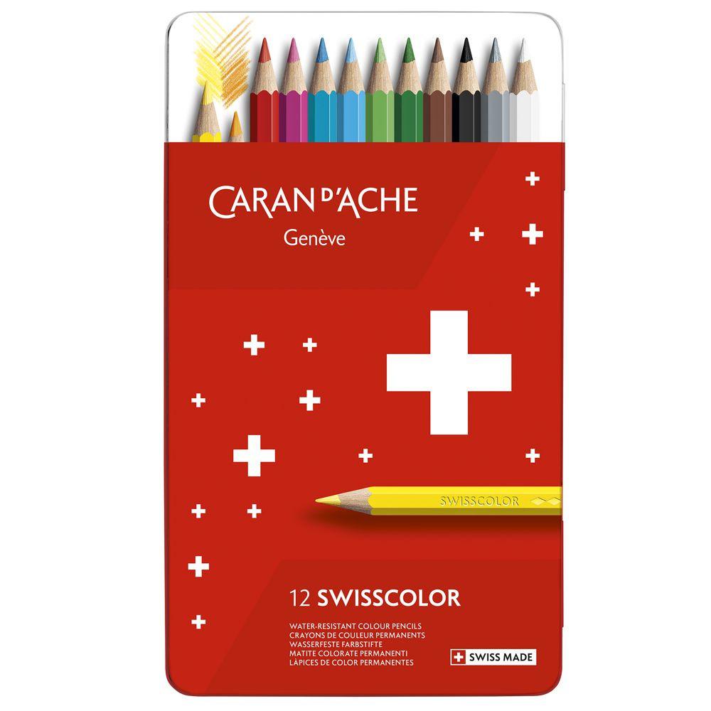 Lápis de Cor Swisscolor Permanente C/12 Cores