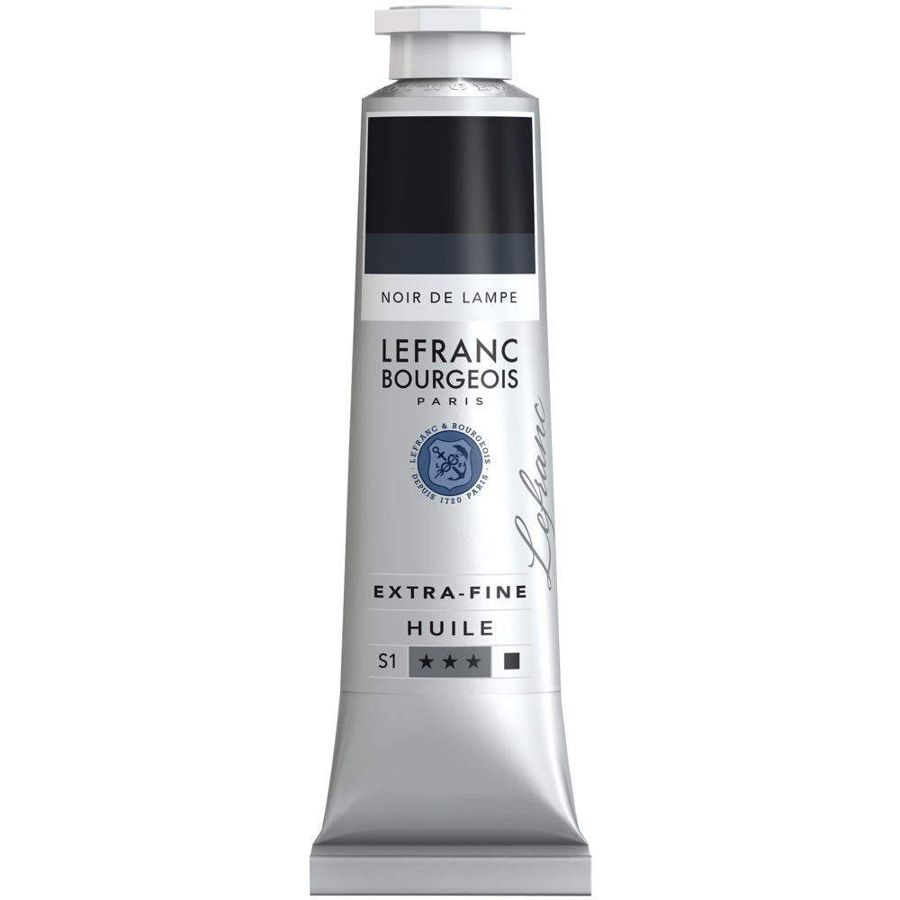 Tinta Óleo Lefranc & Bourgeois Extra Fine 40ml S1 266 Lamp Black