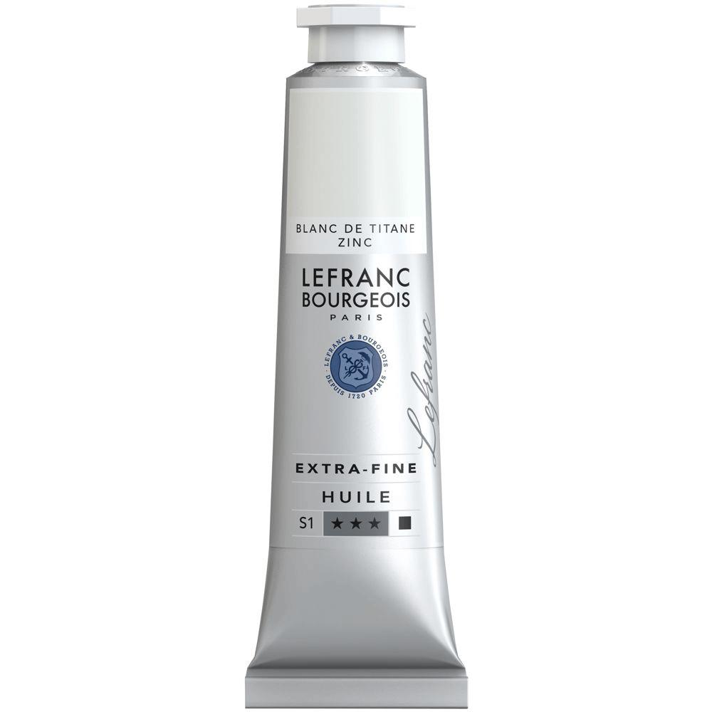 Tinta Óleo Lefranc & Bourgeois Extra Fine 40ml S1 013 Titanium Zinc White