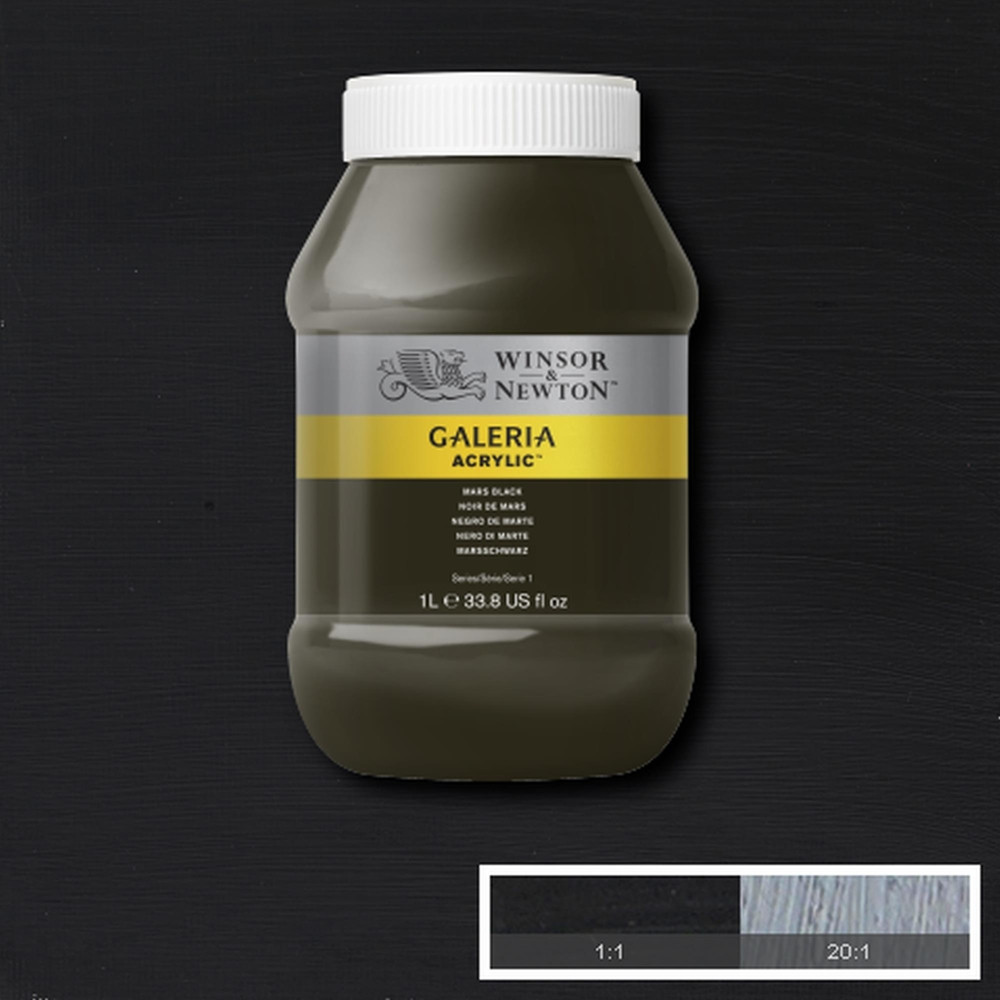 Tinta Acrílica Winsor & Newton Galeria 1Litro 386 Mars Black