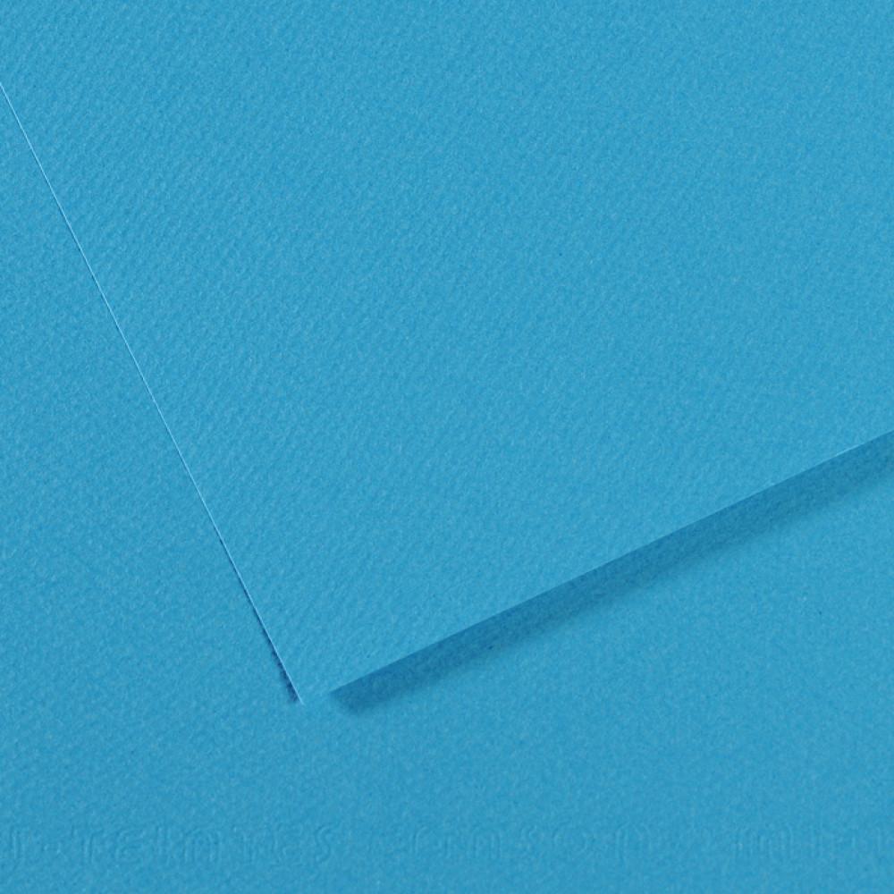 Papel Mi-Teintes Canson 50x65cm 595 Azul Turquesa