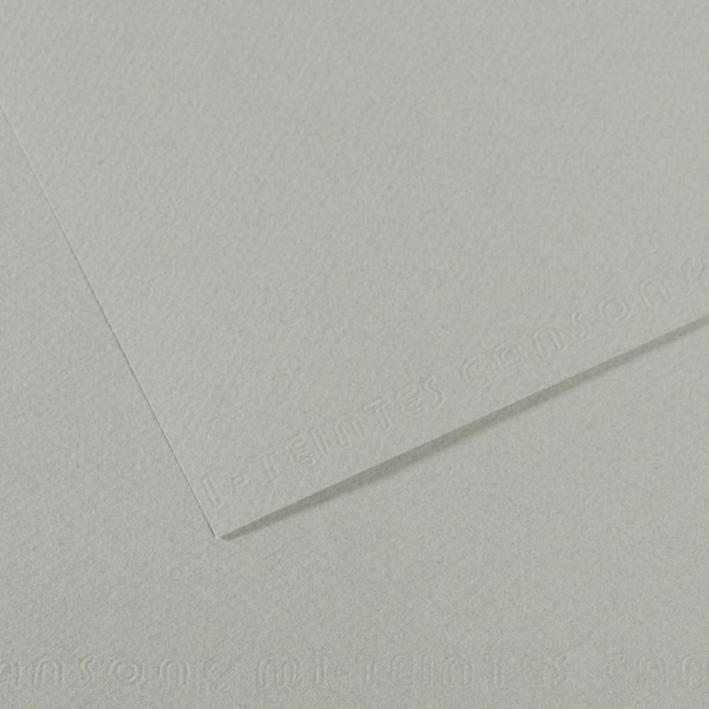 Papel Mi-Teintes Canson 50x65cm 354 Cinza Azulado
