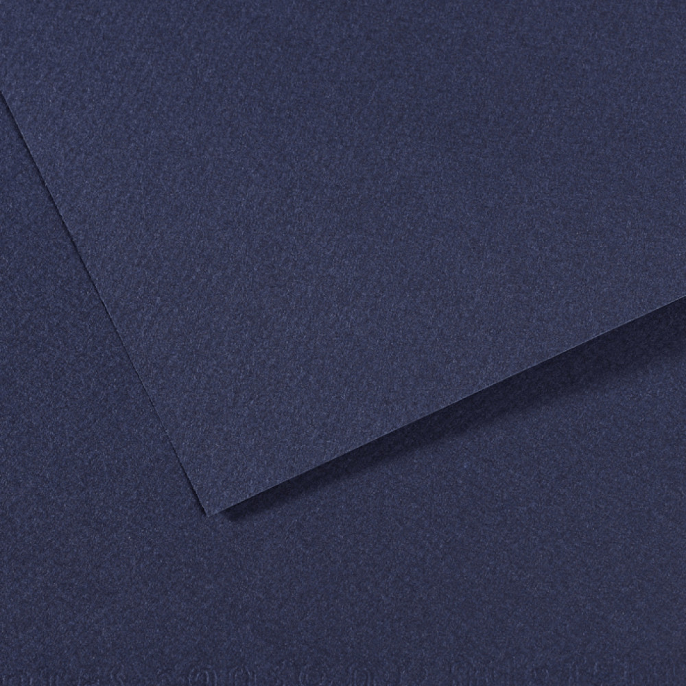Papel Mi-Teintes Canson 50x65cm 140 Azul Indigo