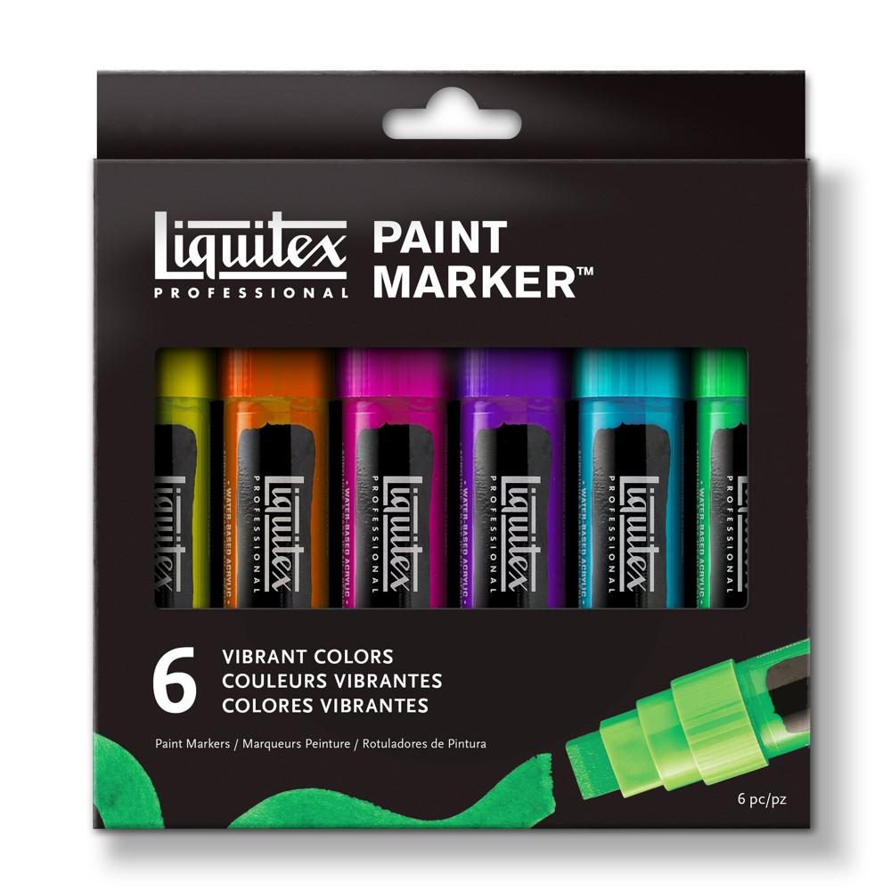 Estojo Liquitex Paint Marker Wide 06 Cores Vibrantes