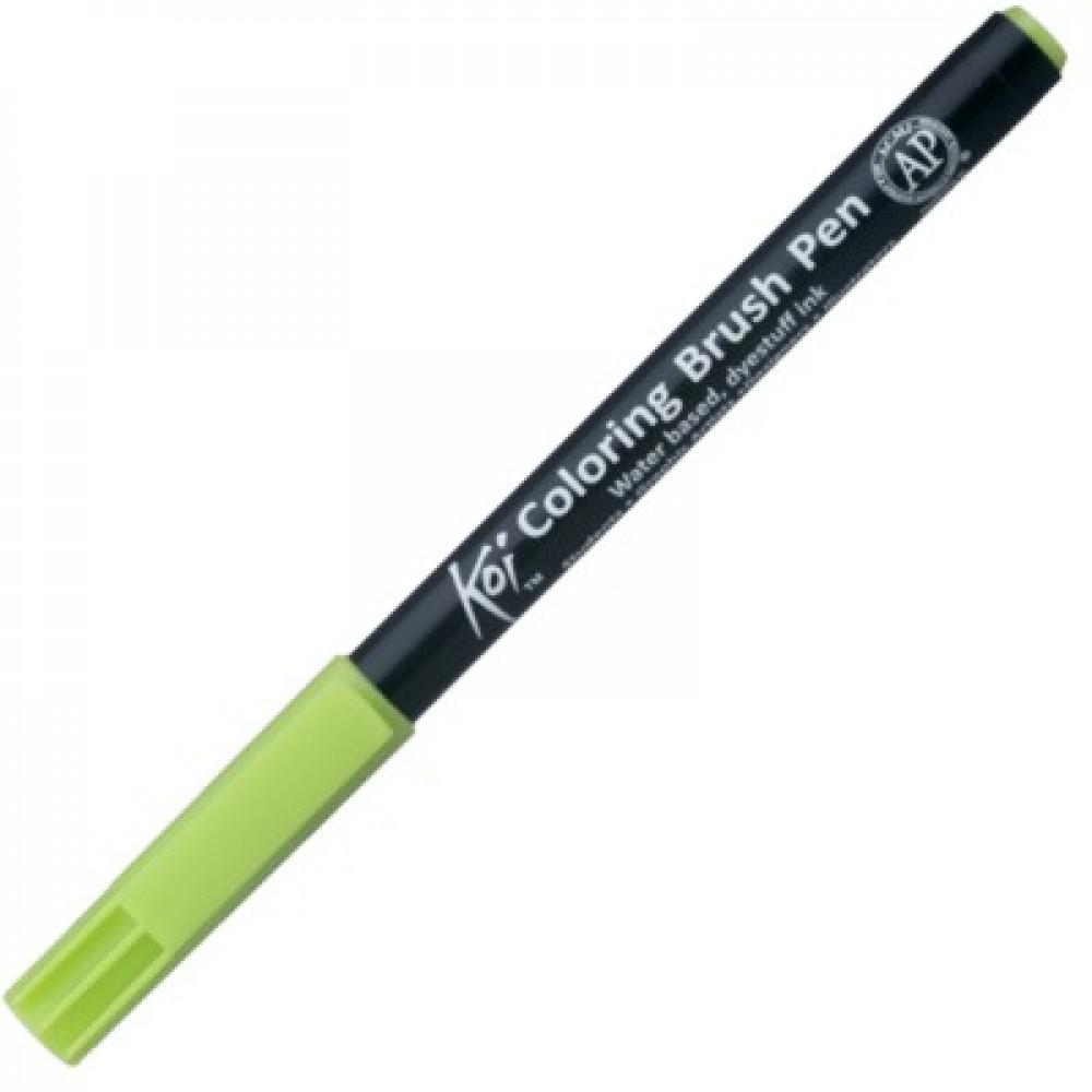 Caneta Sakura Brush Pen 027 Yellow Green