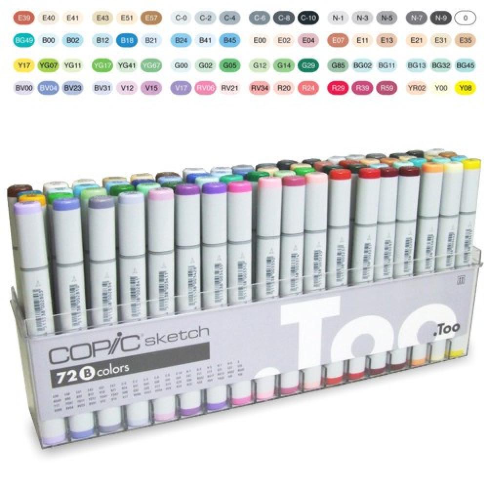 Copic Marker Sketch B 72 Cores