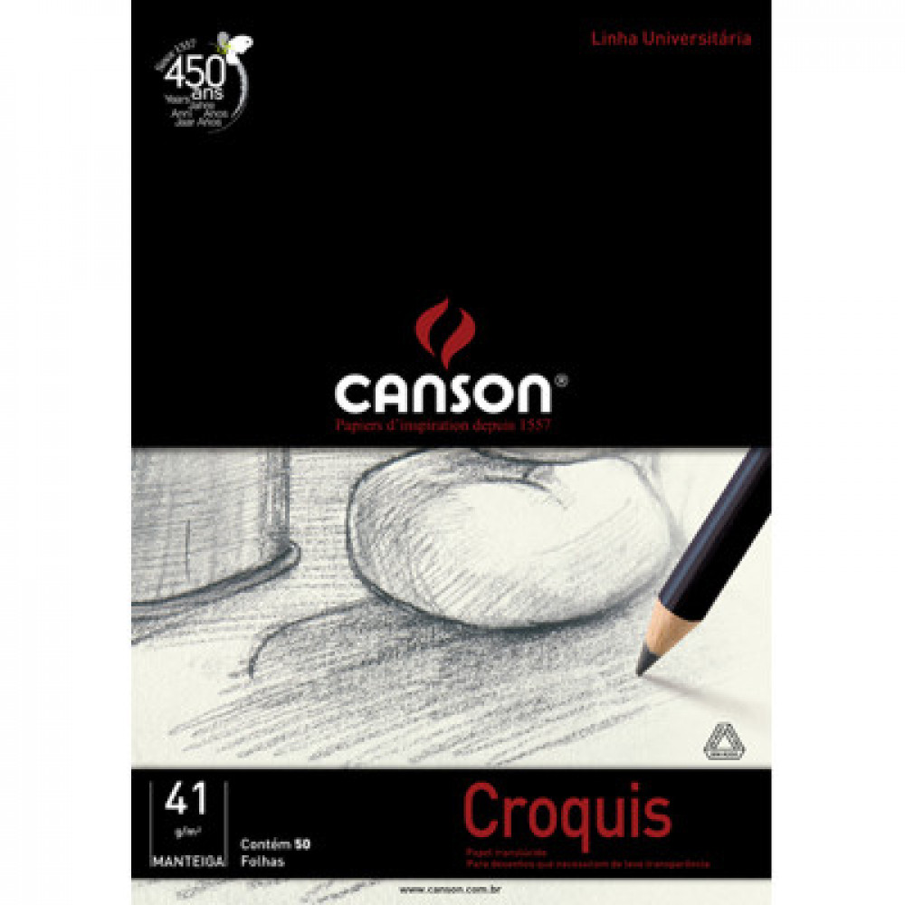 Papel Manteiga Canson Croquis 40g/m² A2