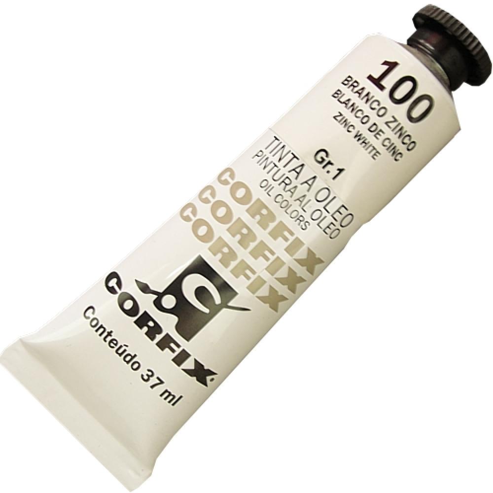 Tinta a Óleo Corfix 37ml 100 Branco de Zinco G1