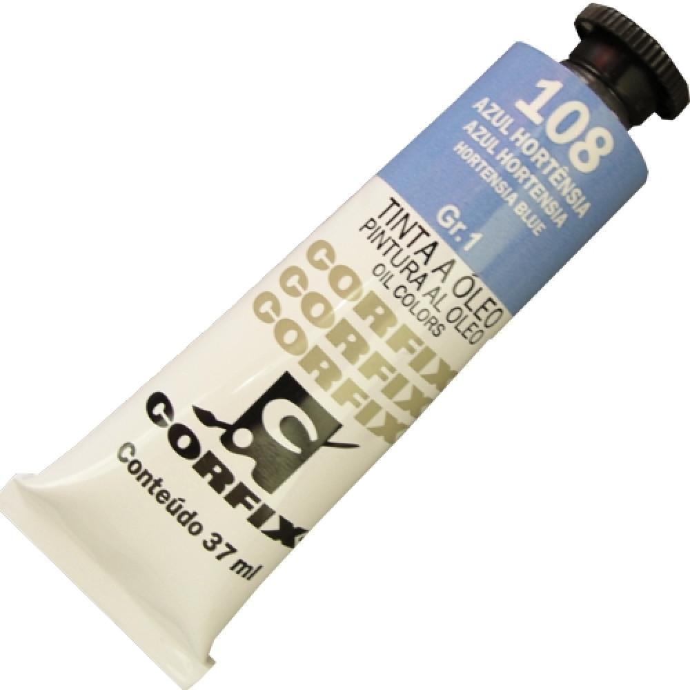 Tinta a Óleo Corfix 37ml 108 Azul Hortênsia G1