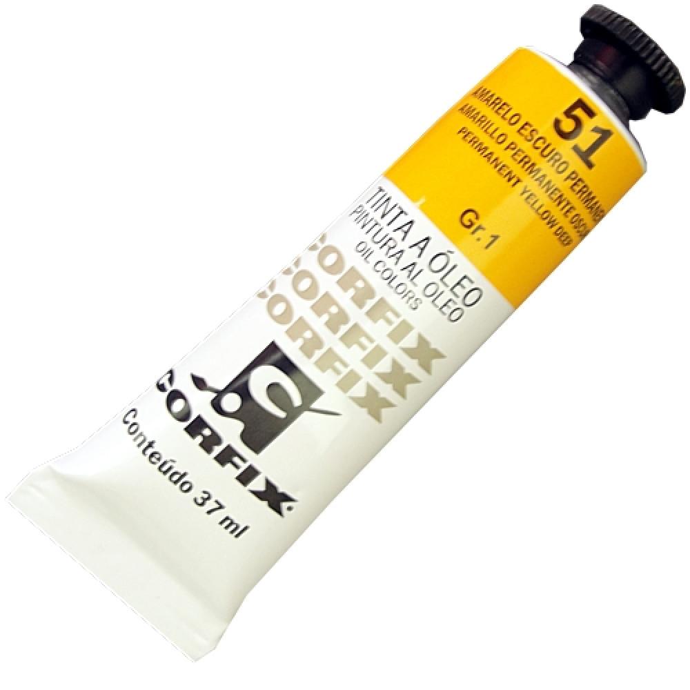 Tinta a Óleo Corfix 37ml 051 Amarelo Escuro Permanente G1