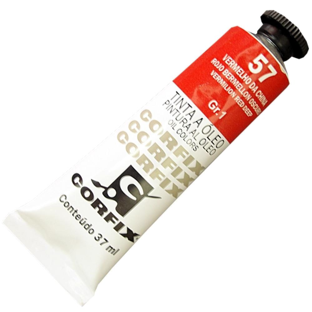 Tinta a Óleo Corfix 37ml 057 Vermelho China G1