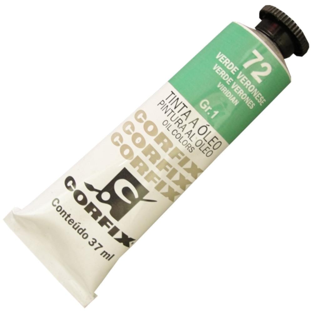 Tinta a Óleo Corfix 37ml 072 Verde Veronese G1