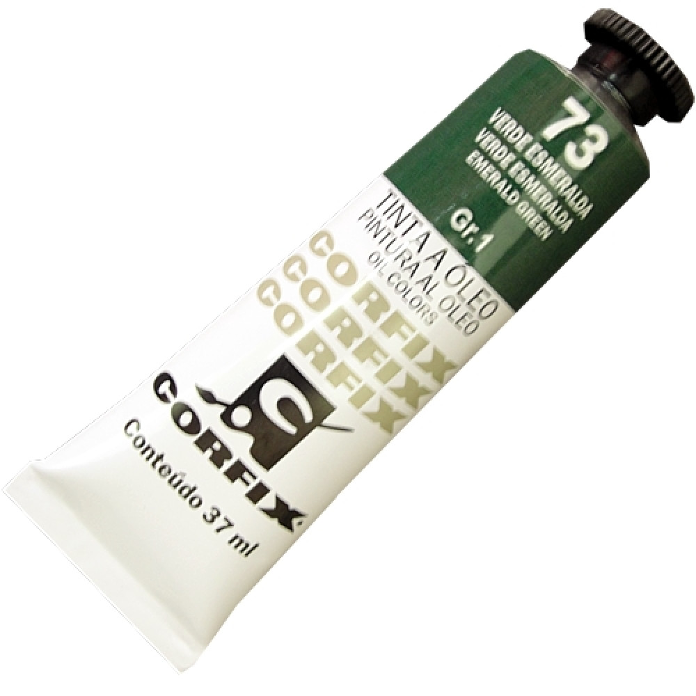 Tinta a Óleo Corfix 37ml 073 Verde Esmeralda G1
