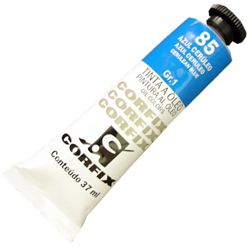 Tinta a Óleo Corfix 37ml 085 Azul Cerúleo G1