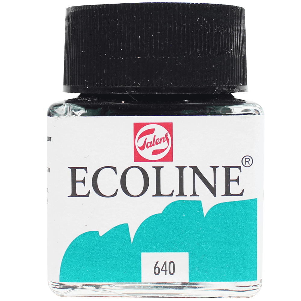 Tinta Ecoline Talens 30ml 640 Blue Green