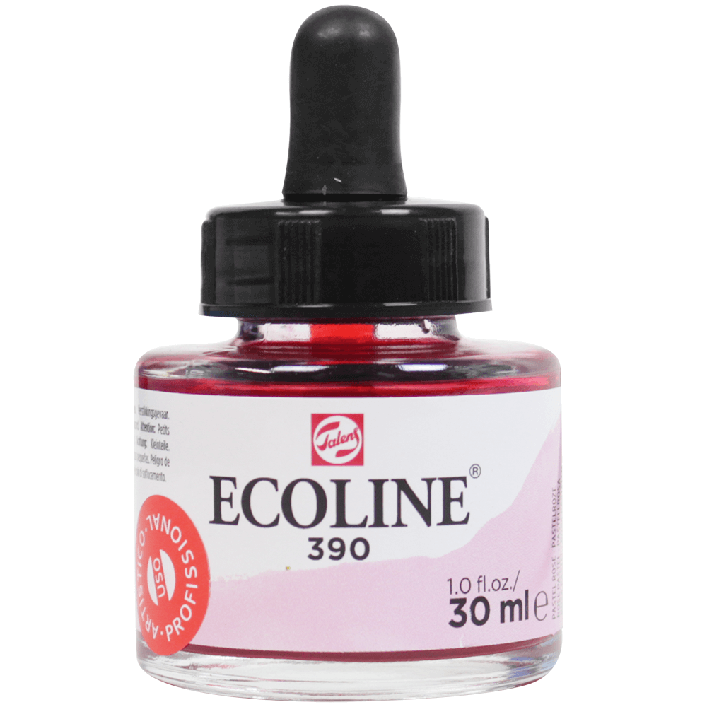 Tinta Ecoline Talens 30ml 390 Pastel Rose