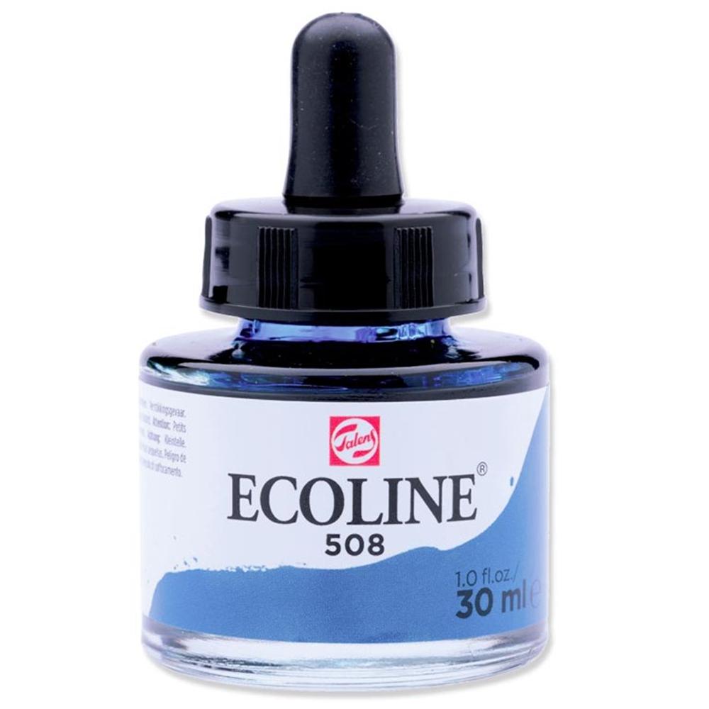 Tinta Ecoline Talens 30ml 508 Prussian Blue