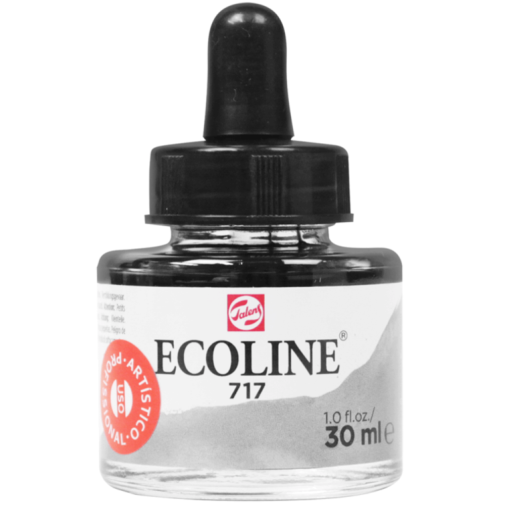 Tinta Ecoline Talens 30ml 717 Cold Grey