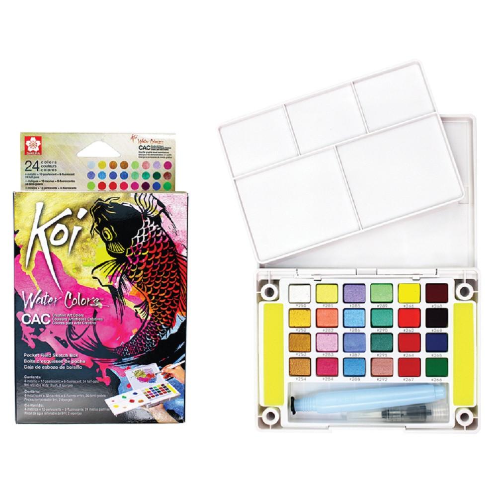 Estojo Aquarela Sakura Koi 24 Cores Metálicas e Neon