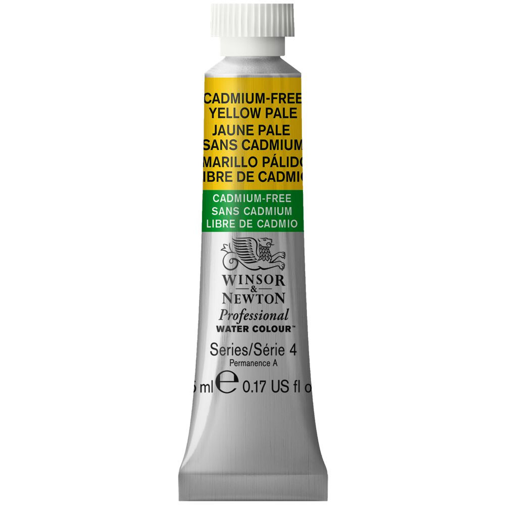 Tinta Aquarela Winsor & Newton Profissional Tubo 5ml S4 907 Cadmium-Free Yellow Pale