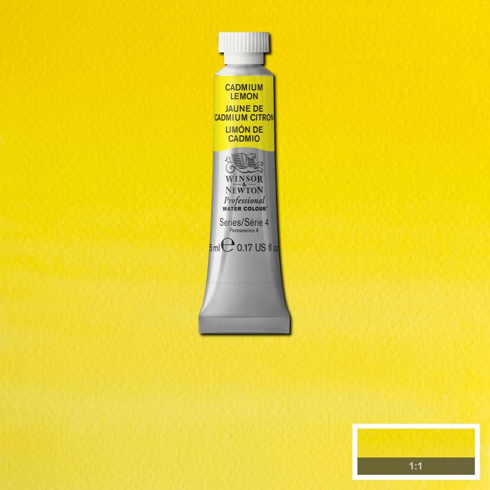 Tinta Aquarela Winsor & Newton Profissional Tubo 5ml S4 086 Cadmium Lemon