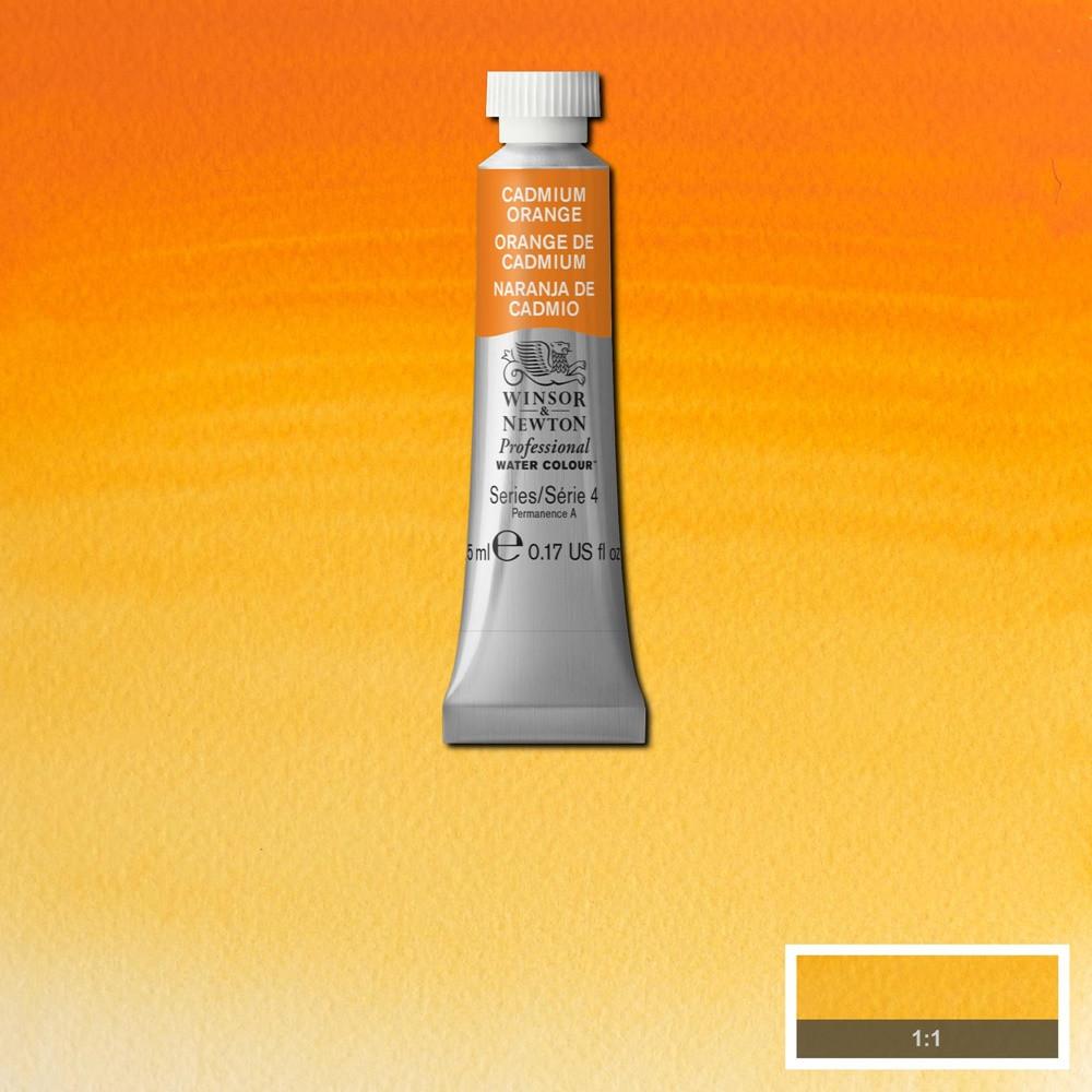 Tinta Aquarela Winsor & Newton Profissional Tubo 5ml S4 089 Cadmium Orange
