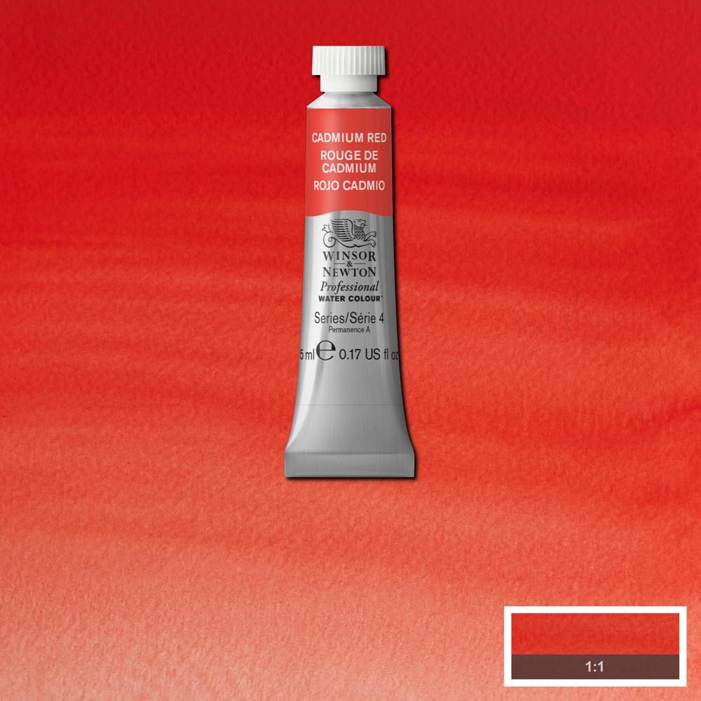 Tinta Aquarela Winsor & Newton Profissional Tubo 5ml S4 094 Cadmium Red