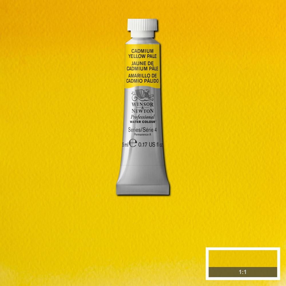Tinta Aquarela Winsor & Newton Profissional Tubo 5ml S4 118 Cadmium Yellow Pale