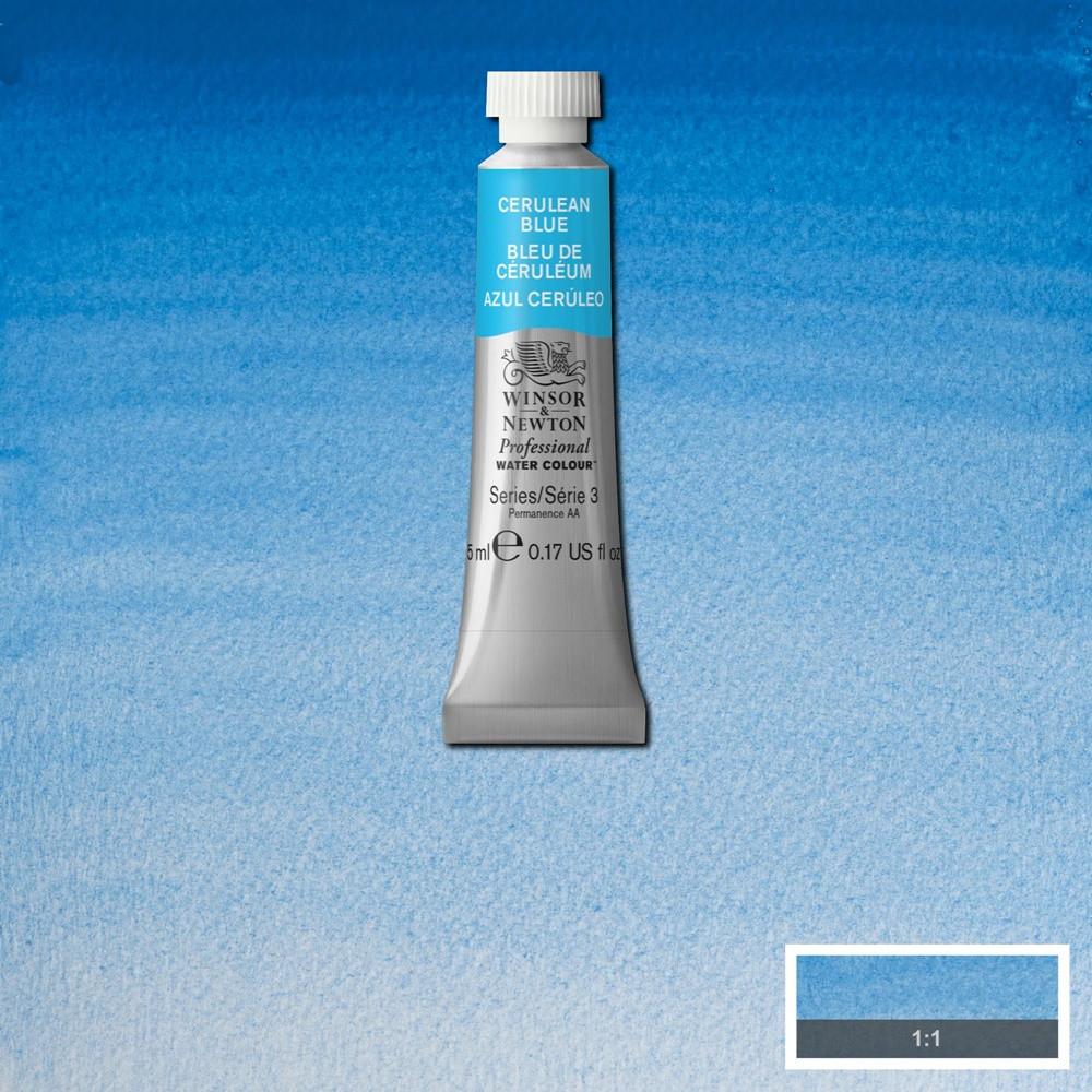 Tinta Aquarela Winsor & Newton Profissional Tubo 5ml S3 137 Cerulean Blue