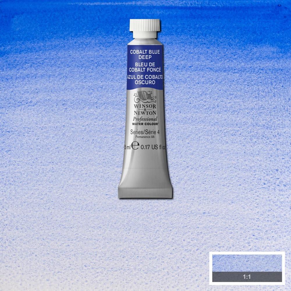 Tinta Aquarela Winsor & Newton Profissional Tubo 5ml S4 180 Cobalt Blue Deep