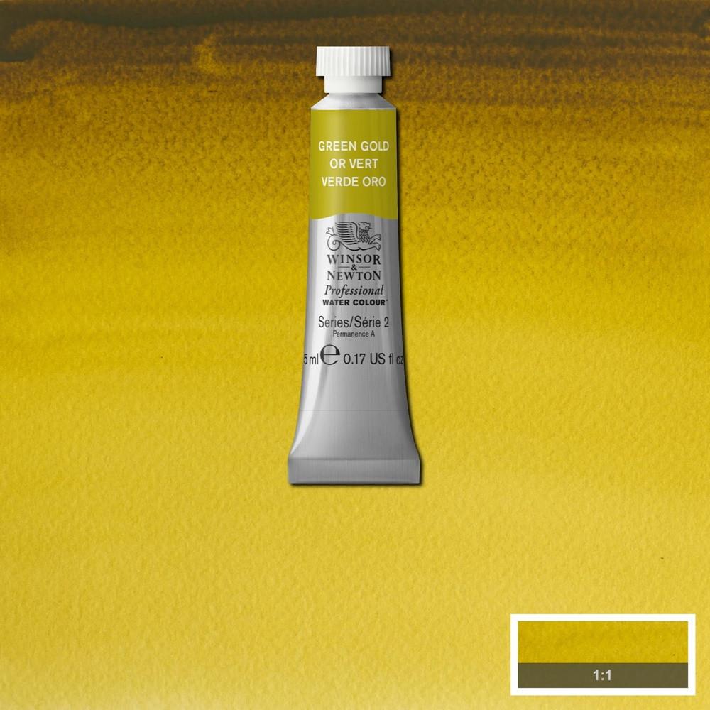 Tinta Aquarela Winsor & Newton Profissional Tubo 5ml S2 294 Green Gold