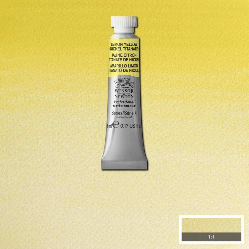 Tinta Aquarela Winsor & Newton Profissional Tubo 5ml S4 347 Lemon Yellow