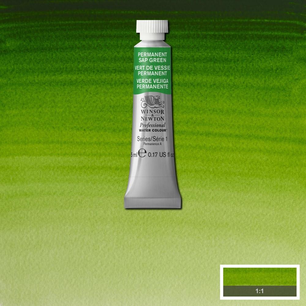 Tinta Aquarela Winsor & Newton Profissional Tubo 5ml S1 503 Permanent Sap Green