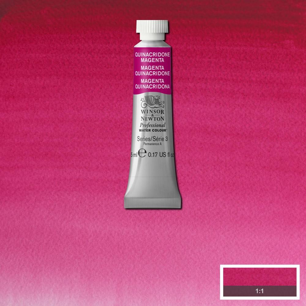 Tinta Aquarela Winsor & Newton Profissional Tubo 5ml S3 545 Quinacridone Magenta