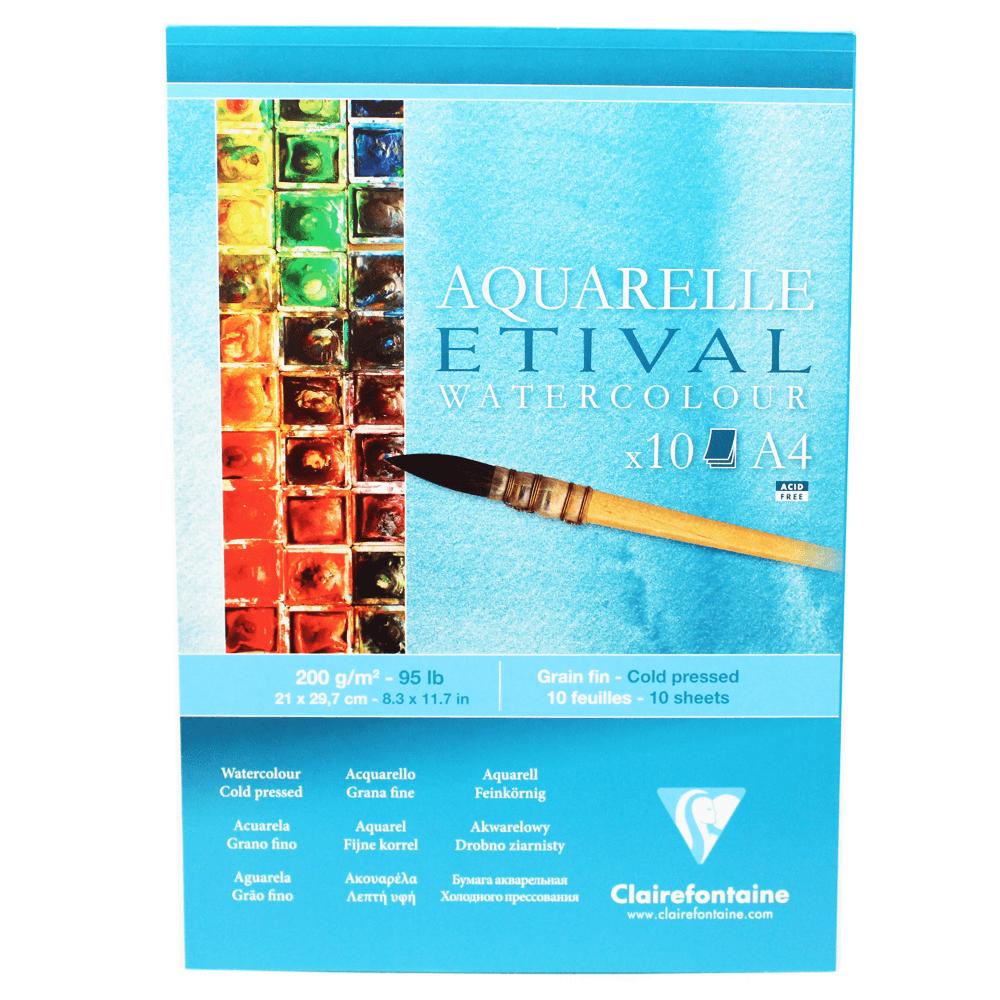 Papel para Aquarela Clairefontaine Etival 200g/m² A4