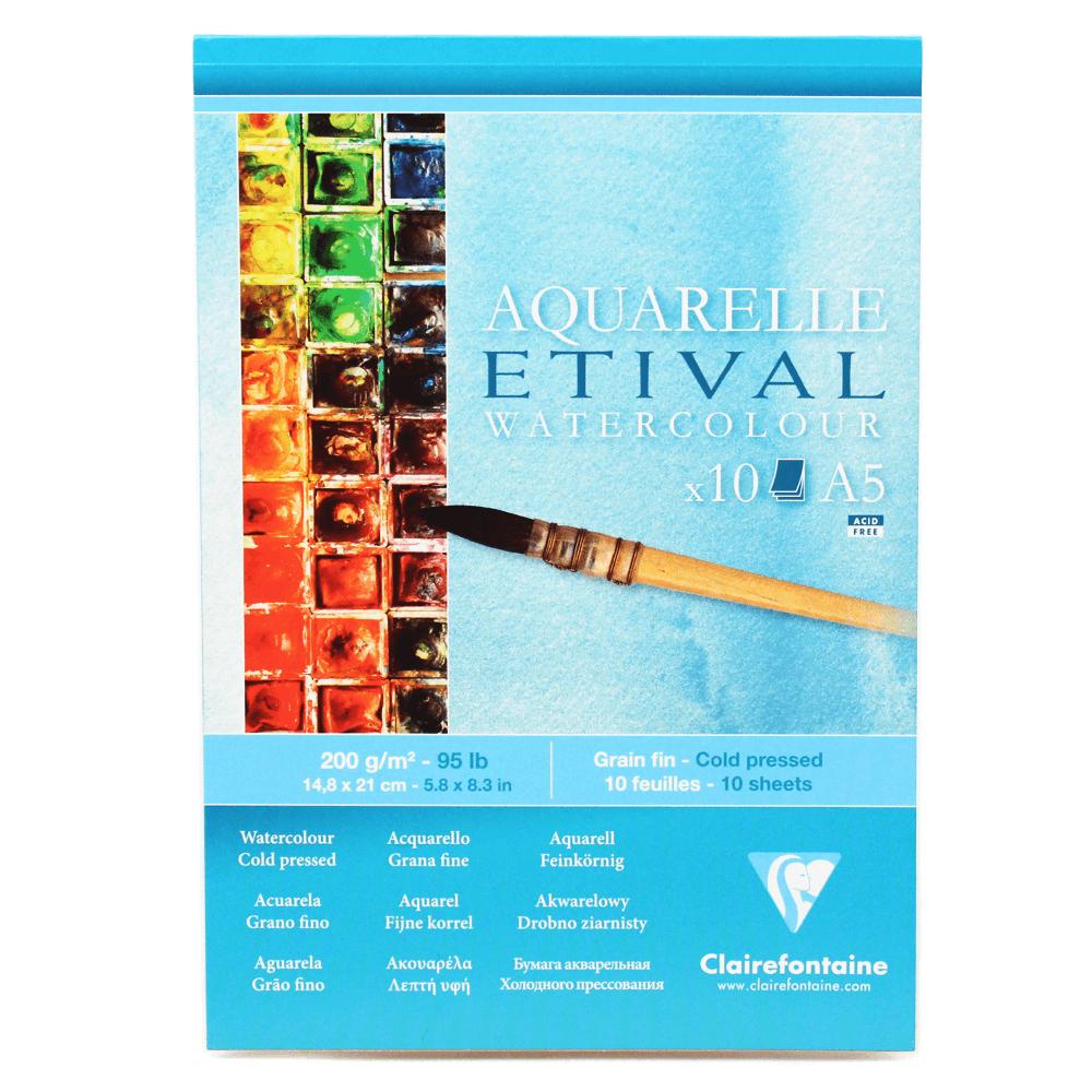 Papel para Aquarela Clairefontaine Etival 200g/m² A5