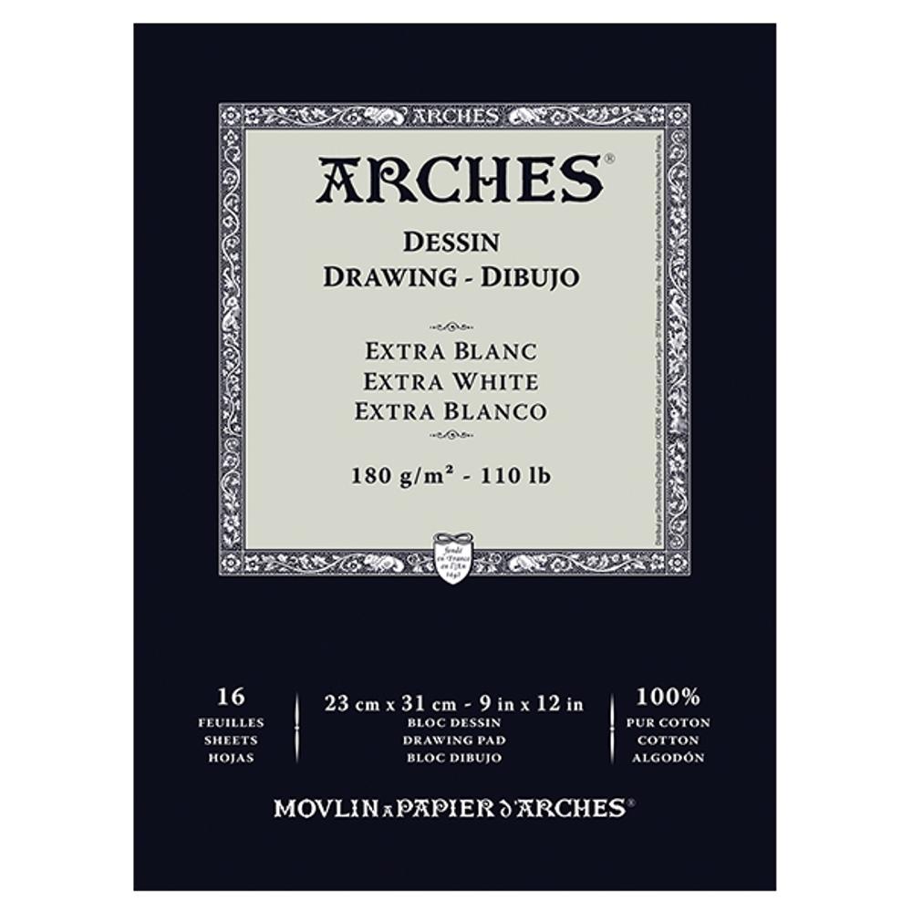 Papel Para Desenho Arches Extra Branco 180g/m² 23x31cm