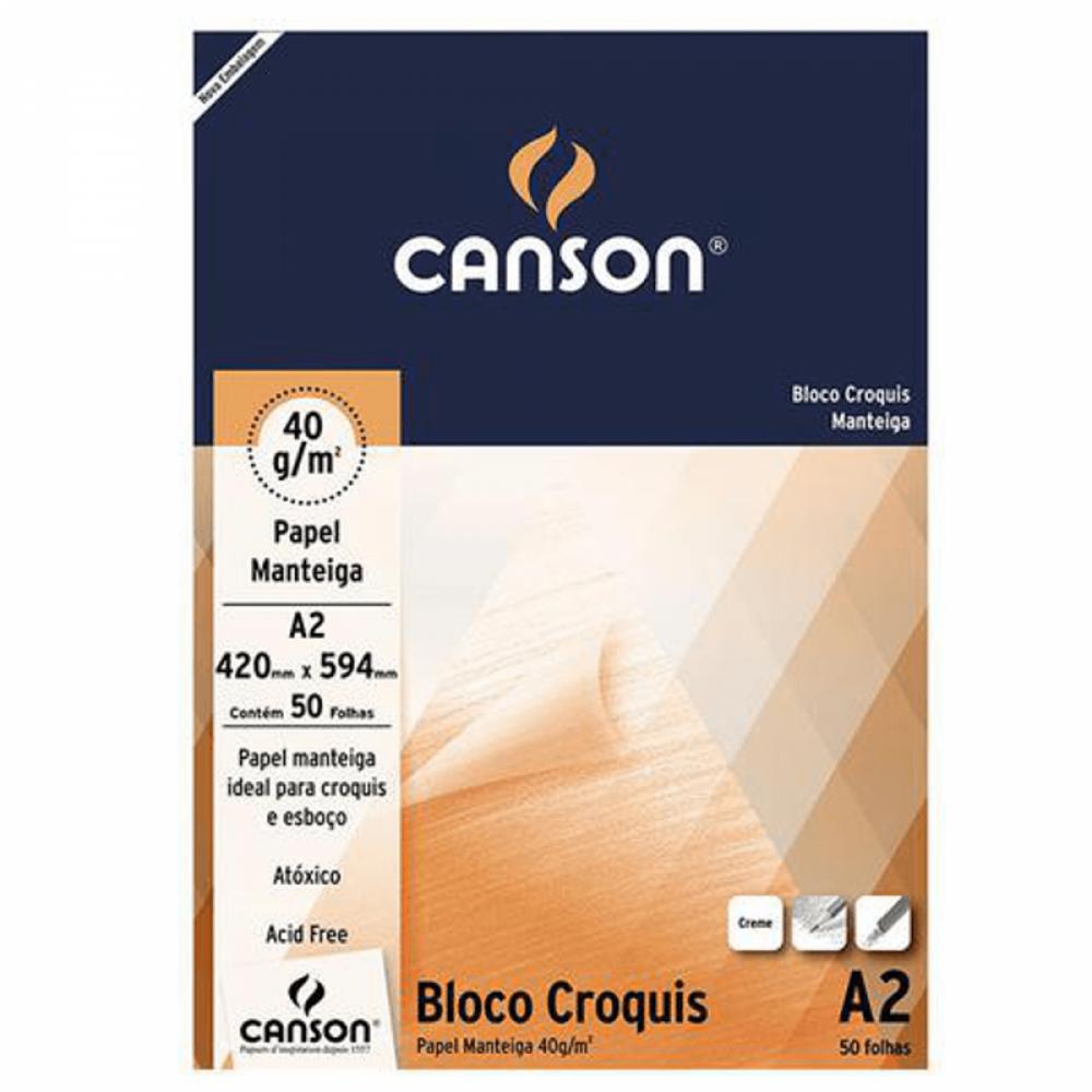 Papel Manteiga Canson Croquis 40g/m² A2