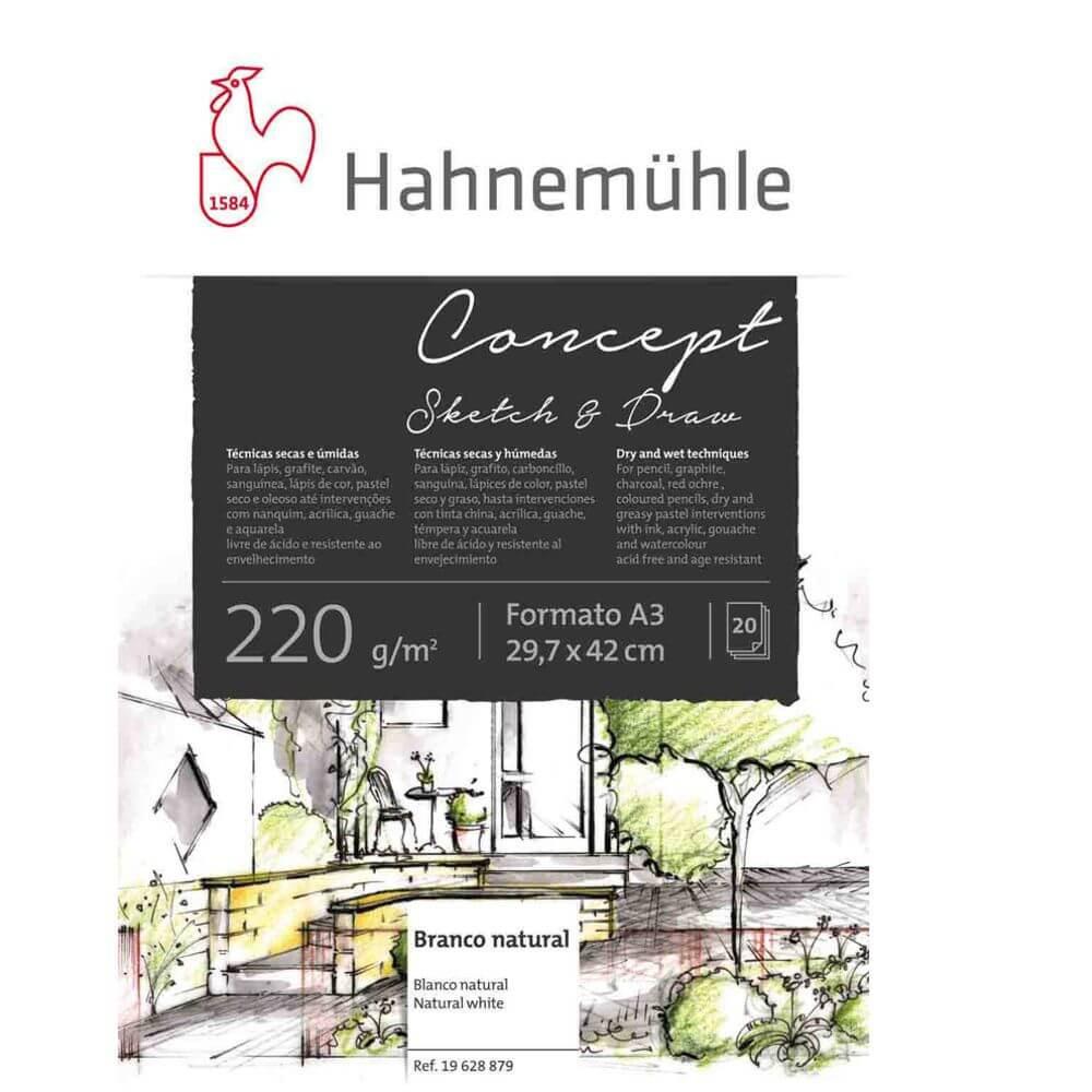 Bloco Hahnemühle Concept Sketch & Draw 220g/m² A3