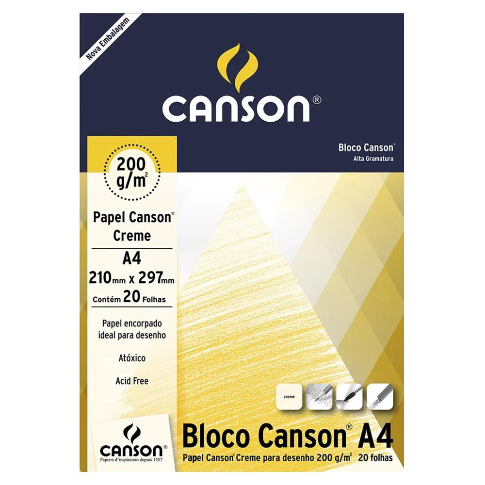 Papel Para Desenho Canson 200g/m² A4 Creme