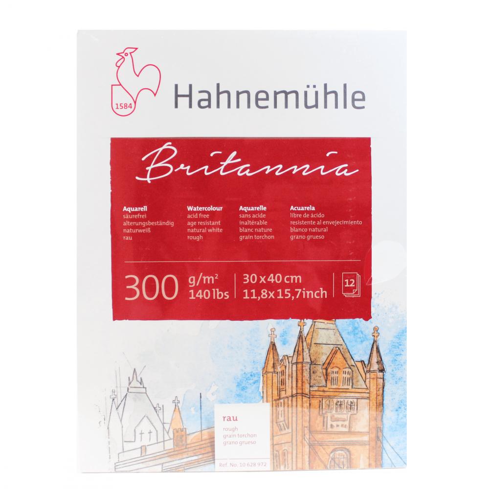 Bloco Para Aquarela Hahnemühle Britannia 300g/m² 30x40cm