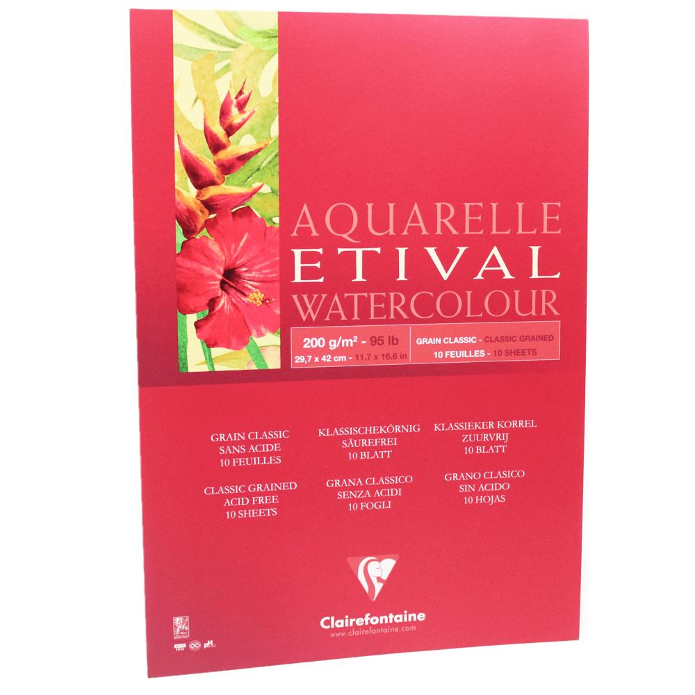 Papel para Aquarela Clairefontaine Etival 200g/m² A3