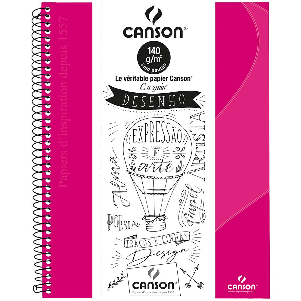 Caderno Para Desenho Canson A4 - Rosa