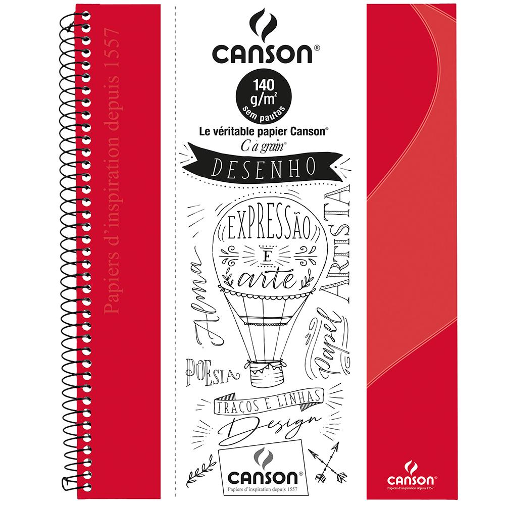 Caderno Para Desenho Canson A4 - Vermelho