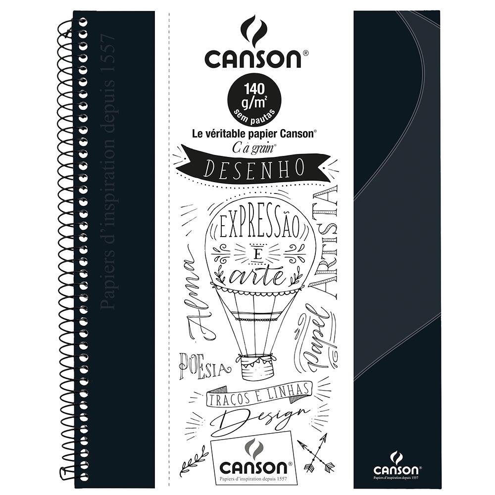 Caderno Para Desenho Canson A4 - Preto