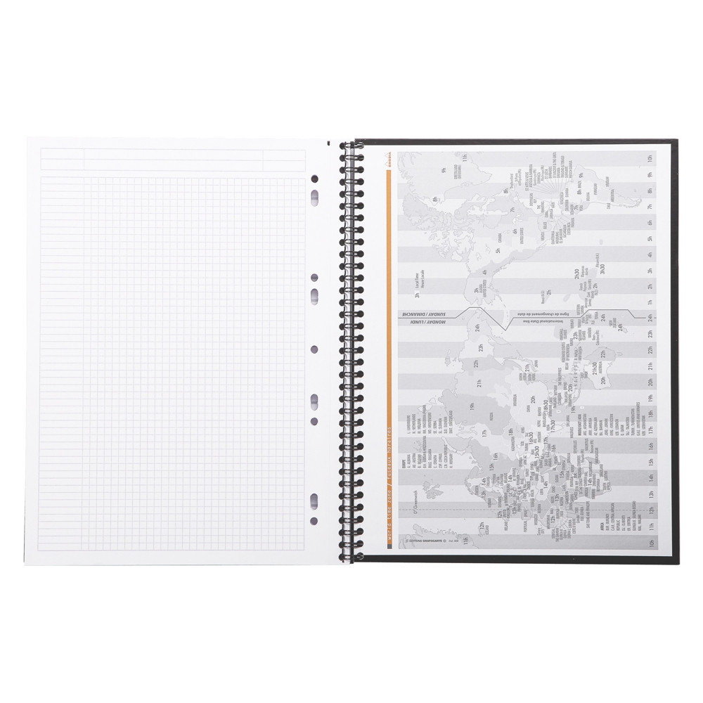 Caderno Rhodia Note Book com Espiral Capa Preta A4+